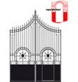 iron gate vector image