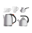 kettle kitchen tableware modern home appliance vector image vector image