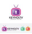Keyhole television logo design