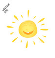 laughing sun drawing of a laughing face summer vector image vector image