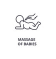 Massage of babies thin line icon sign symbol