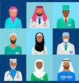 muslim doctor set vector image