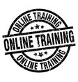 online training round grunge black stamp vector image vector image