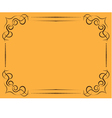 ornate frame on a yellow background vector image vector image