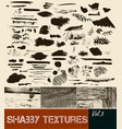 pack of textures and strokes and textures vector image
