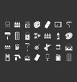 paint tools icon set grey vector image
