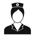 people nurse icon simple style vector image vector image