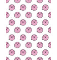 pig seamless pattern on a white background 2019 vector image