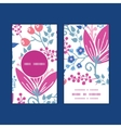 pink flowers vertical round frame pattern vector image vector image