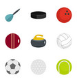 play icons set flat style vector image vector image