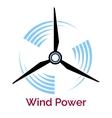 power making wind turbine company logo vector image