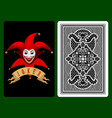 red joker playing card vector image vector image