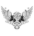rose with wings vector image vector image