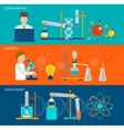 Science research and chemical laboratory banners vector image