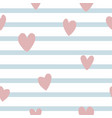 seamleass pattern with simple hearts vector image vector image