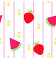 seamless tileable texture with fruits vector image vector image