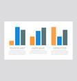 set blue and orange black elements for vector image vector image