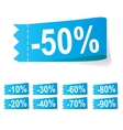 Set of discount labels vector | Price: 1 Credit (USD $1)