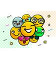 set smile emoticons vector image vector image