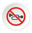 Sign no trumpet icon flat style vector image vector image