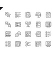 simple set survey related line icons vector image vector image