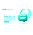 social network chat bubble talk dialogue vector image