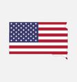 south dakota map on american flag vector image vector image