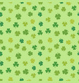 st patricks day shamrock seamless pattern vector image vector image