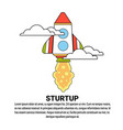 startup project business innovation concept banner vector image