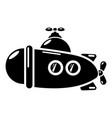 submarine sea icon simple black style vector image vector image