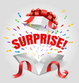 surprise open gift box vector image