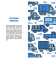 trucking services banner template with different vector image