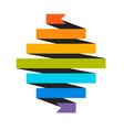 vintage ribbon icon vector image vector image