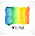 Watercolor bright colors painted isolated banner vector image vector image