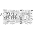 wholesale stuffed animals text word cloud concept vector image vector image