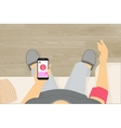 Wireless blood pressure monitor mobile app vector image