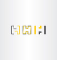 letter h icons set collection yellow black vector image