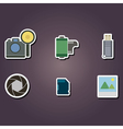 color icons with photography theme vector image