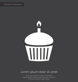cake premium icon vector image