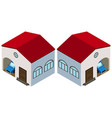 3d design for house with garage vector image
