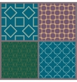 A set of geometric patterns vector image vector image