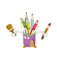 A view of pencil case vector image vector image