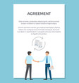 agreement visualization poster vector image vector image