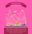 amusement park pink poster vector image