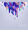Background with colorful gradient geometric shapes