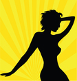 Beautiful woman wallpaper vector image