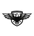 black eagle logo symbol emblem vector image