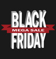black friday sale in 3d templ vector image vector image
