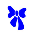 blue bow sign 811 vector image vector image