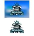 blue nautical heraldic emblems or logo vector image vector image